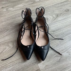Marc Fisher lace up flats